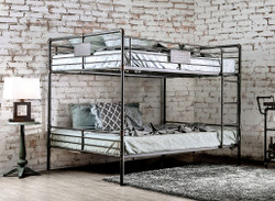 Industrial Piping Queen Bunk Bed