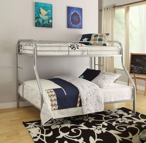 Thornton Twin XL over Queen Bunk in Silver