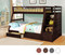 Espresso Twin over Full Bunk Bed with Staircase & Drawers