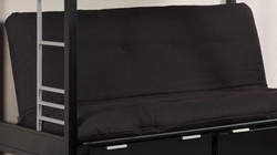 "Plosh 6"" Black Futon Pad Mattress by Furniture of America | Futon Mattress Pad"
