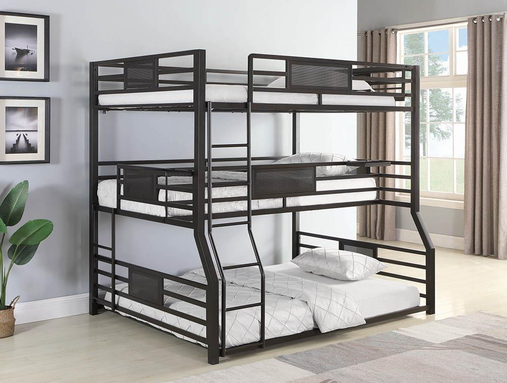 Trenton Full Twin Xl Queen 3 Layer Bunk