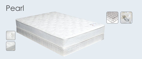 Maxim Simplicity Pearl Mattress Shown with Box Spring