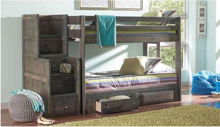 Grayson Twin Over Twin Bunk Bed In Gun Smoke