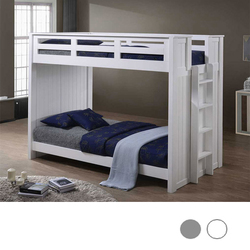 Austin Bead Board Twin Bunk Bed in White
