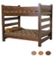 Cabin Queen Over Queen Barnwood Bunk Bed for Adults | Dark Finish Bunk