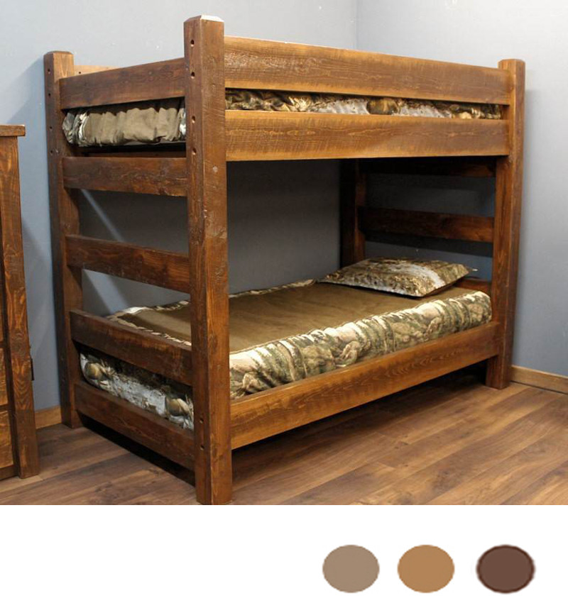 Lodge XL Twin Over XL Twin Barnwood Bunk Bed