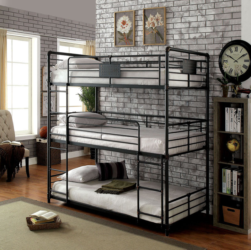 Industrial Style Piping Twin Triple Decker Bed