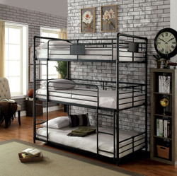 Industrial Style Piping Twin Three Decker Bed