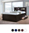Dillon XL Full Size Bookcase Captain's Bed with Storage Drawers in Espresso