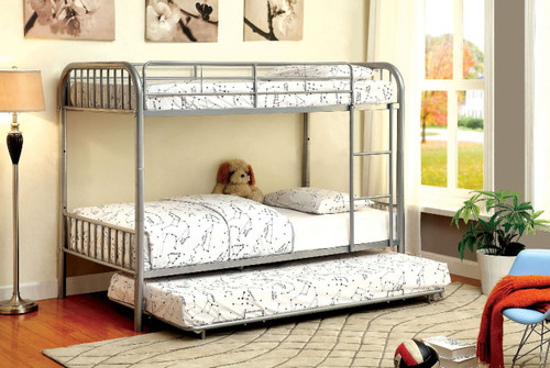 Westhill Convertible tubular Twin Bunk in Silver Finish