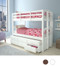 Catalina Convertible White Twin Bunk with Trundle and Storage Drawers