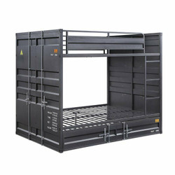 Freight Container Theme Full Size Bunk in Gunmetal