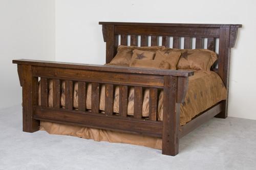 Lodge Mission Timberwood Barnwood Bed