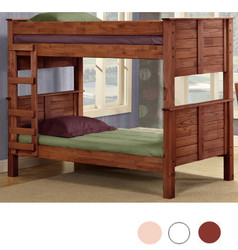 Pine Falls Twin XL over Twin XL Bunk in Mahogany Finish