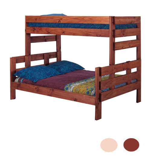 Pine Valley Twin XL over Full XL Bunk in Mahogany Finish