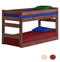 Pine Valley Twin XL Low Bunk Bed in Mahogany