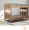 Pine Cliffs Multi Color XL Twin Bunk with vertical Ladder