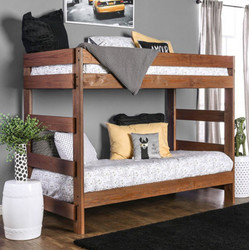 Julian Plank Style Double Decker Bed