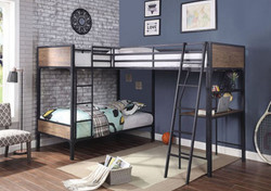 Brody 3-Person Twin Loft Bunk with Work-station