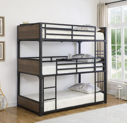 Rex Twin 3-Person Bunk Bed