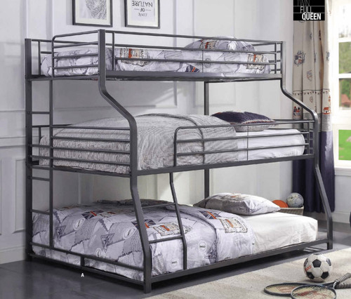 Braxton Twin XL over Full XL over Queen 3 Person Bunk