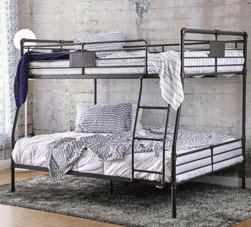 Metal Piping Full XL over Queen Bunk