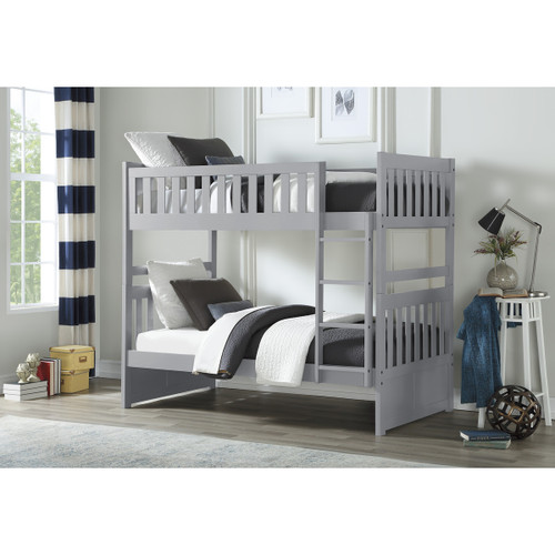 Charlton Mission Twin Bunk in Gray