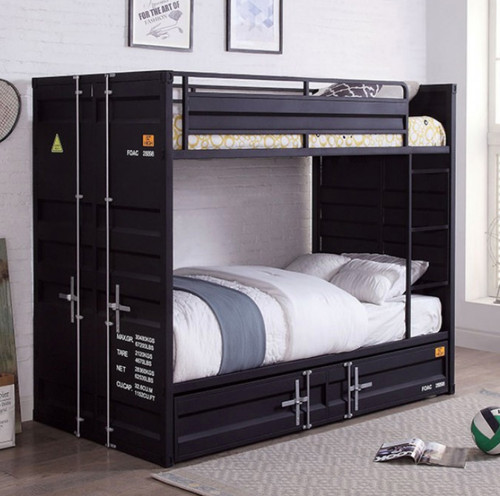 Freight Container Inspired Twin Bunk  in Black
