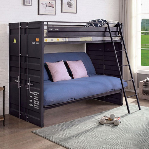 Freight Container Twin Bunk with Futon Base