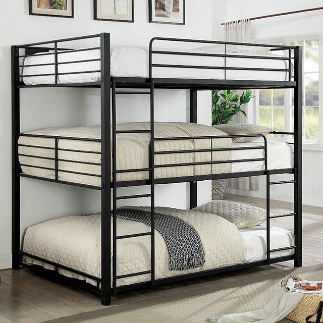 Logan Queen Size 3 High Bunk Bed 3 Person Queen Bunk