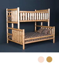 Log XL Twin over Bunk Bunk in Clear Finish