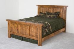 Pioneer Panel Barnwood Bed in Honey Pine