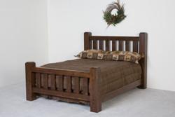 Lodge Rustic Lumberjack Barnwood Bed in Dark Finish