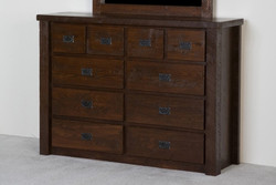 Lodge Rustic Barnwood 10-Drawer Dresser