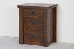 3-Drawer Nightstand in Dark Finish