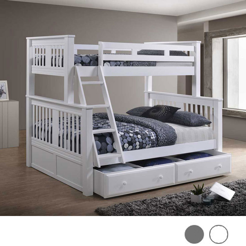 Twin Xl Over Queen Gary Bunk Bed With Xl Full Trundle