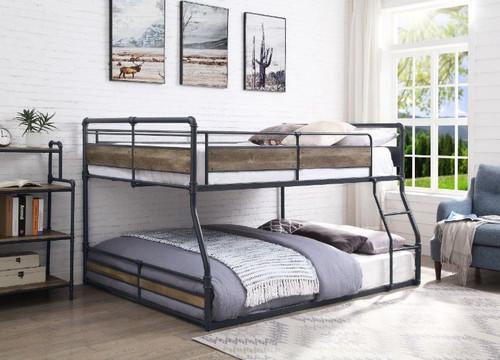 Martin Full XL over Queen Low Bunk Bed