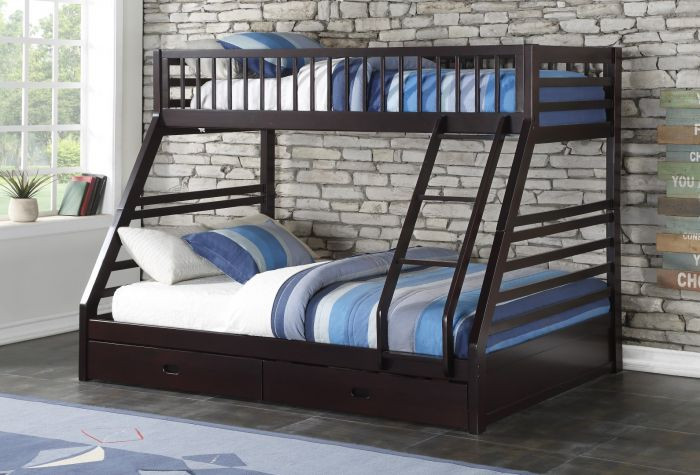 Bradford Espresso Twin Over Queen Bunk Bed