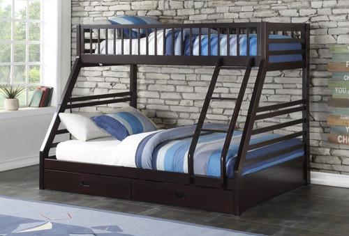 Espresso Twin over Queen Bunk Bed | XL Twin over Queen