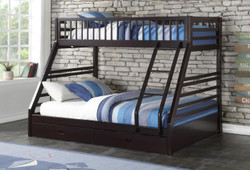 Espresso Twin over Queen Bunk