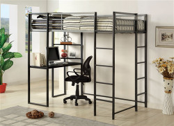 Cooper Silver Gun Metal Twin Workstation Below Loft