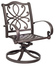 Woodard Holland Swivel Rocking Dining Arm Chair