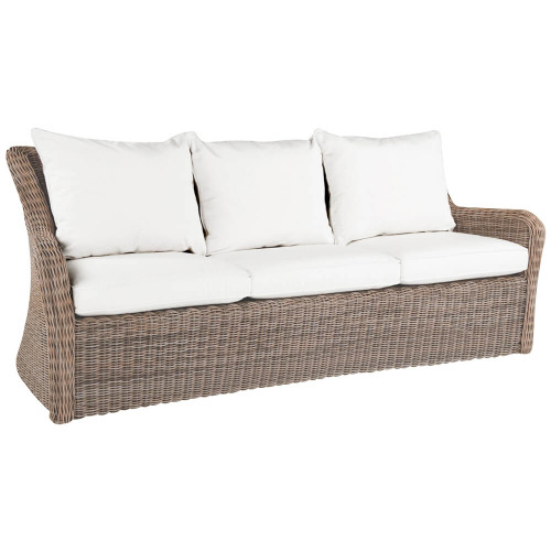 Kingsley Bate Sag Harbor Sofa - Outdoor Wicker Sofa with Cushions