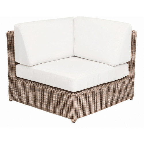 Kingsley Bate Sag Harbor Sectional - Wicker Corner Chair
