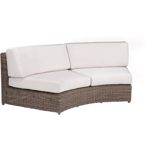 Kingsley Bate Sag Harbor Sectional - Wicker Curved Armless Settee