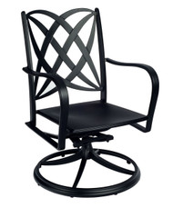 Woodard Apollo Swivel Rocker Dining Arm Chair
