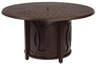 Woodard Belden Round Chat Height Fire Table