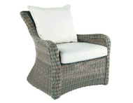 Kingsley Bate Sag Harbor Wicker Lounge Chair - Outdoor Wicker Lounge Chair