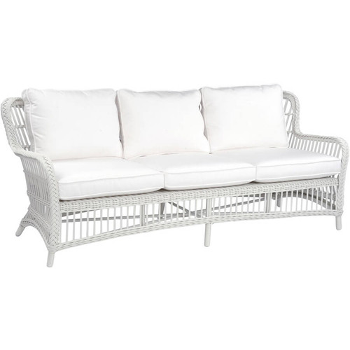 Kingsley Bate Chatham Traditional White Wicker Outdoor Sofa