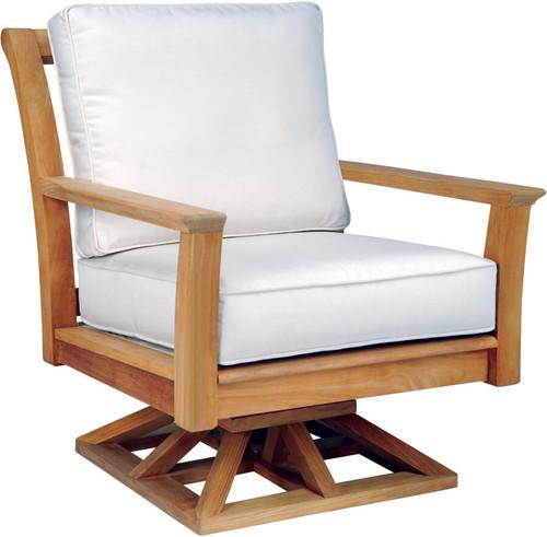 Kingsley Bate Teak Chelsea Swivel Rocker Lounge Chair
